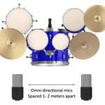Figure 15.2. Spaced pair or A-B microphone technique