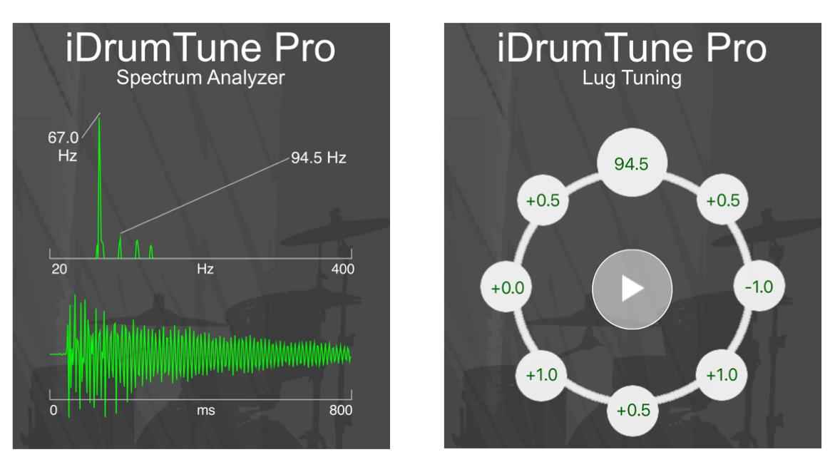 Figure 11.2. Kick drum tuning with iDrumTune