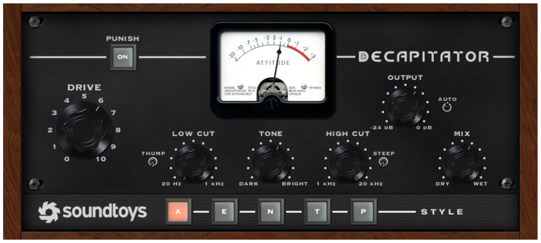 Figure 17.4. Soundtoys Decapitator plug-in